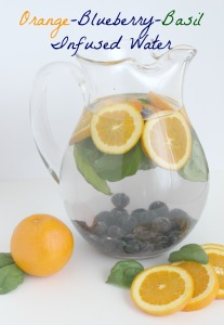 Orange Blueberry Basil Infused Water