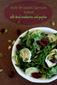 Kale-Brussels Sprouts Salad