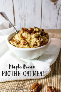 Maple Pecan Protein Oatmeal