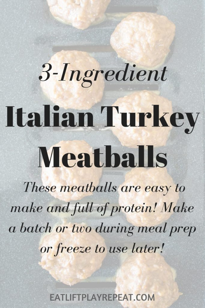 3-Ingredient Italian Turkey Meatballs