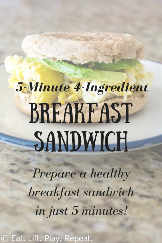 5-Minute 4-Ingredient Breakfast Sandwich