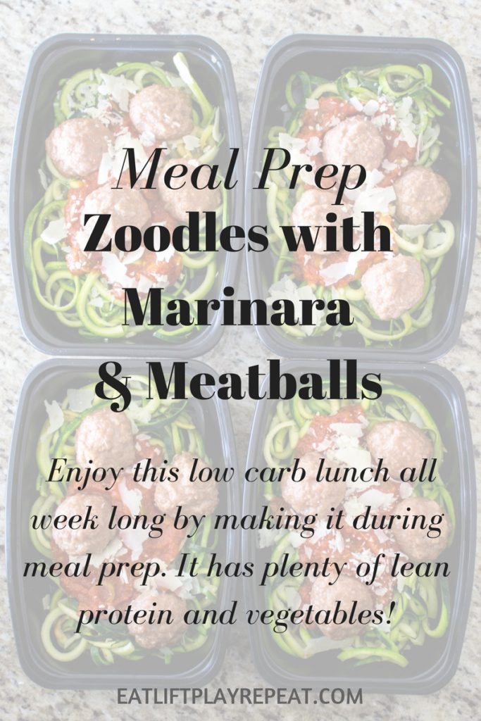 Zoodles with Marinara & Meatballs