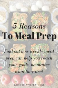 5 Reasons To Meal Prep