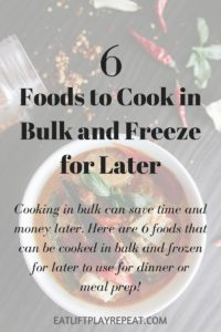 Food to cook in bulk