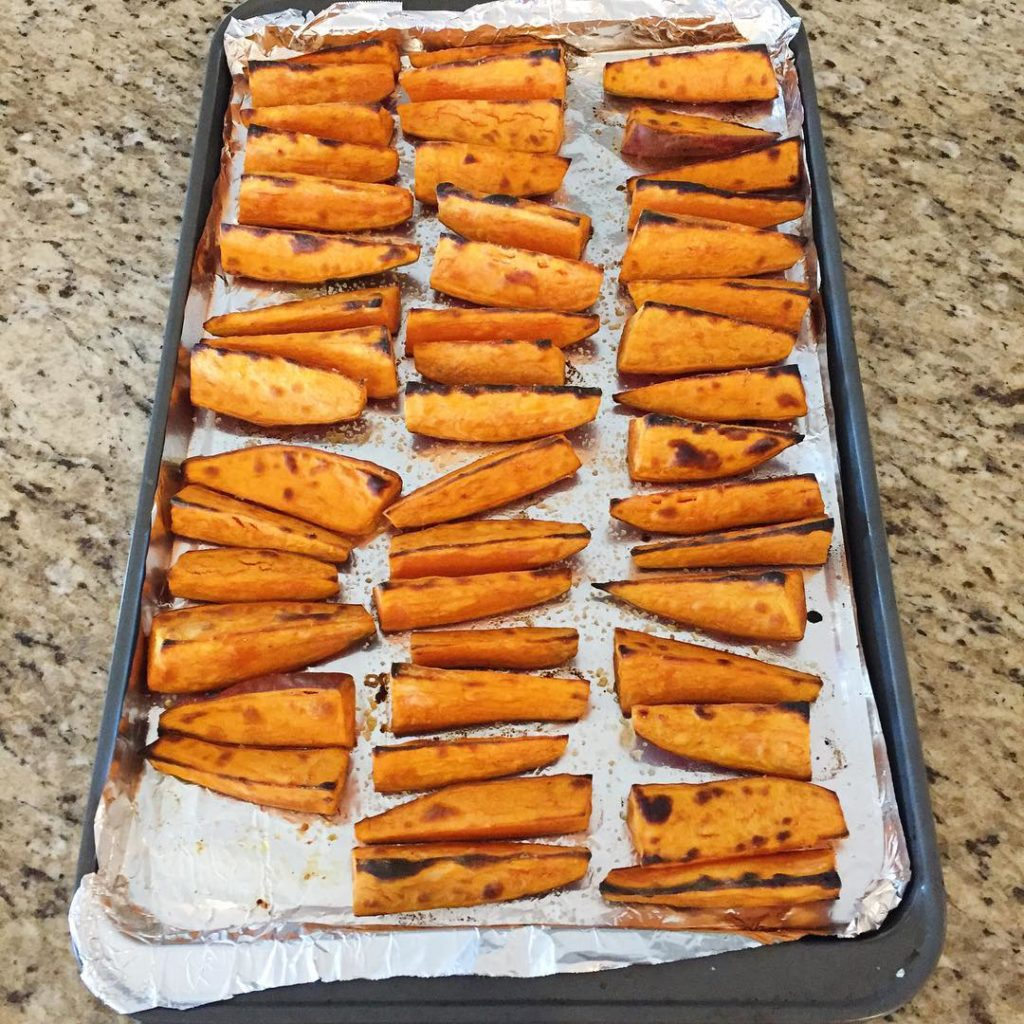 Sweet potato wedges are one of my favorite things tohellip