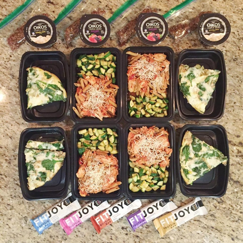 A look at yesterdays meal prep  spinach artichoke Frittatahellip