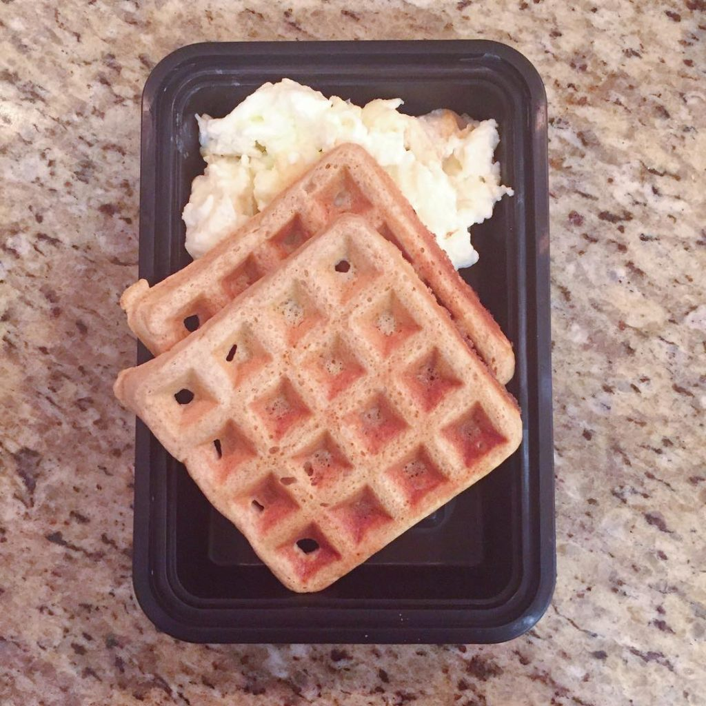 My meal prep breakfast for the week whole wheat waffleshellip