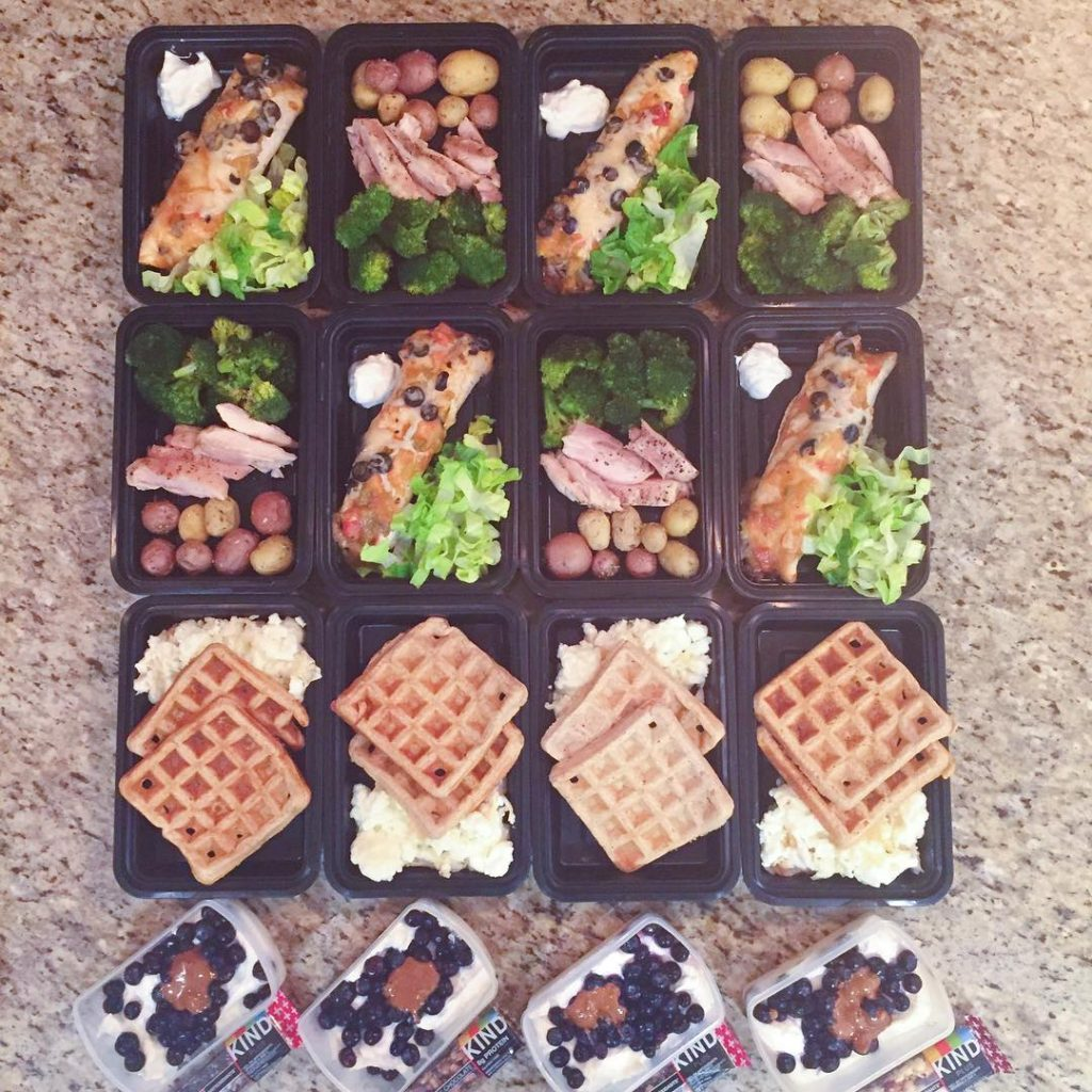 Sunday meal prep was on point Waffles amp egg whiteshellip