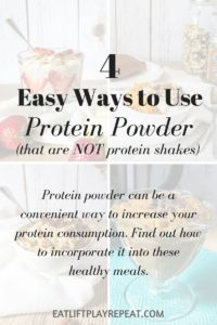 4 Ways to Use Protein Powder